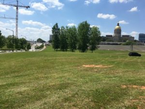 Some of the land from the 2011 deal is Downtown on Memorial Drive and overlooked by the state Capitol and the site of the new state judicial building. Credit: Maggie Lee