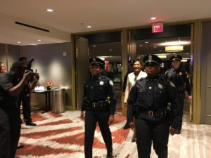 Keisha Lance Bottoms enters a Hilton Hotel Atlanta ballroom to deliver her 2018 State of City address. Credit: Maggie Lee
