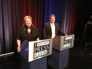Tricia Pridemore and John Hitchins, Republican candidates for the Public Service Commission in District 5. Credit: Maggie Lee