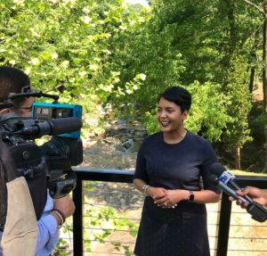 Atlanta Mayor Keisha Lance Bottoms praised the natural beauty of Proctor Creek. Credit: Kelly Jordan
