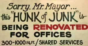 Hunk of Junk sign