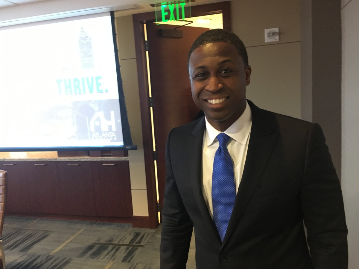 Brandon Riddick-Seals, is the business development manager for Brasfield & Gorrie, LLC. A board member of Atlanta Housing, he was voted the authority's interim president and CEO on Tuesday. Credit: Maggie Lee