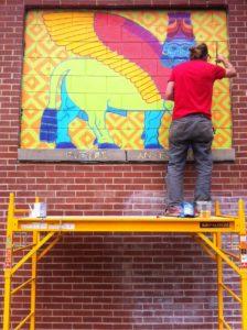 A painter at work. Credit: Kelly Jordan