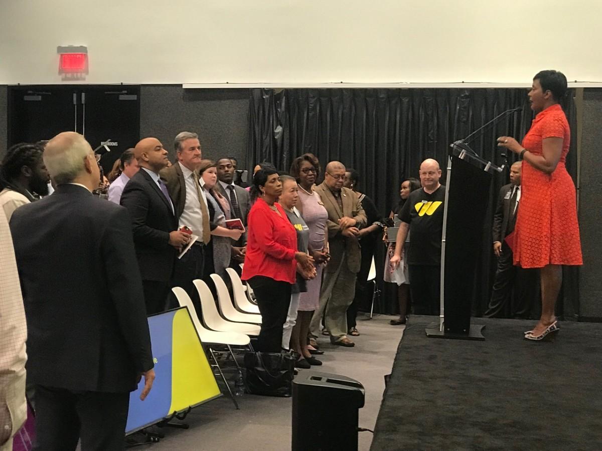 Atlanta Mayor Keisha Lance Bottoms at the Westside Future Fund's Transform Westside Summit on Friday morning. Credit: Maria Saporta
