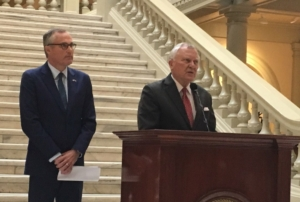 Gov. Nathan Deal, at a Capitol press conference on Monday, endorsed Lt. Gov Casey Cagle for his successor. Credit: Maggie Lee