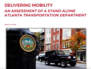 Report on Atlanta Transportation Department