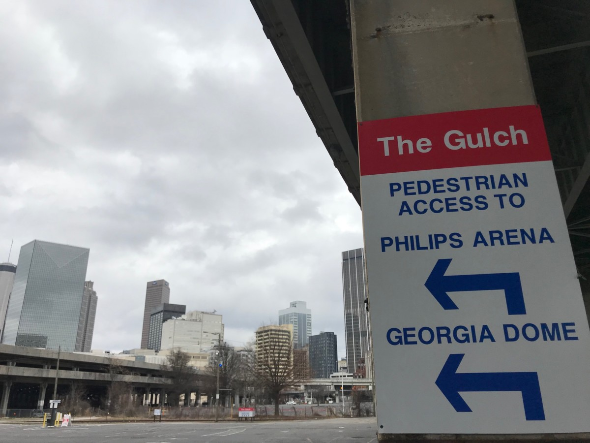 A proposed rebuild of the Gulch would start with a platform to raise the site to street level. Credit: Kelly Jordan
