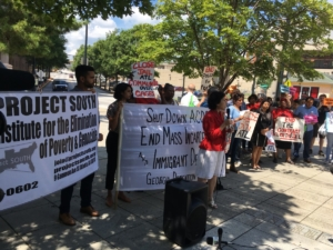 Azadeh Shahshahani, legal and advocacy director withProjectSouth, said on Monday that a new report from her organization and others documents violations of detention standards for ICE detainees at Atlanta's jail.