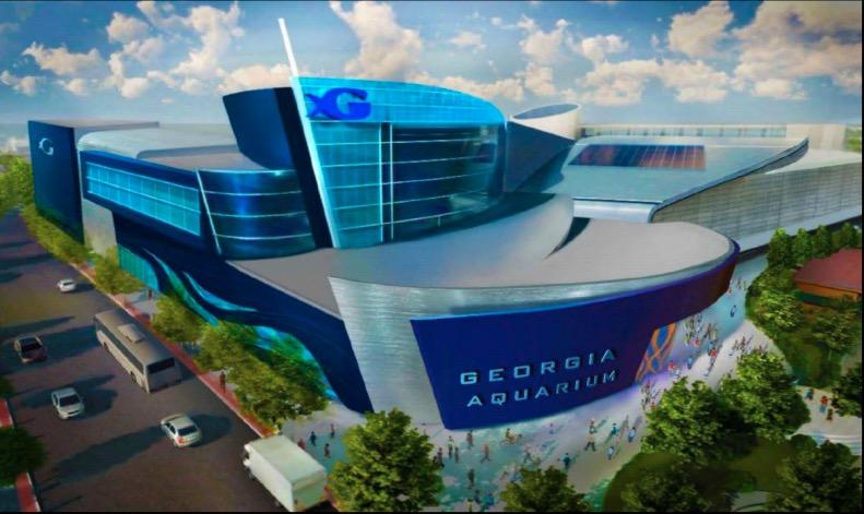A sketch of the Georgia Aquarium's $108 million expansion. Courtesy Georgia Aquarium/Jessica Fontana (Digital Media)
