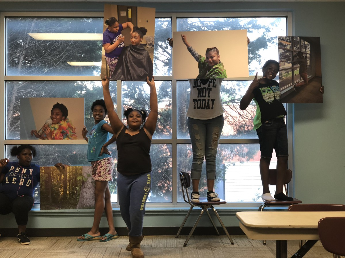ChopArt serves about 4,000 young people a year — this is just before a July art show. Credit/courtesy: Malika Whitley