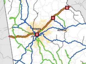 metro Atlanta rail map