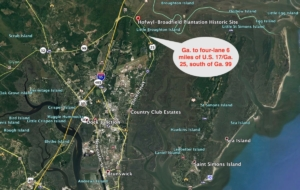 Brunswick road widening, google earth