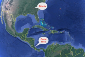Costa Rica, locator map