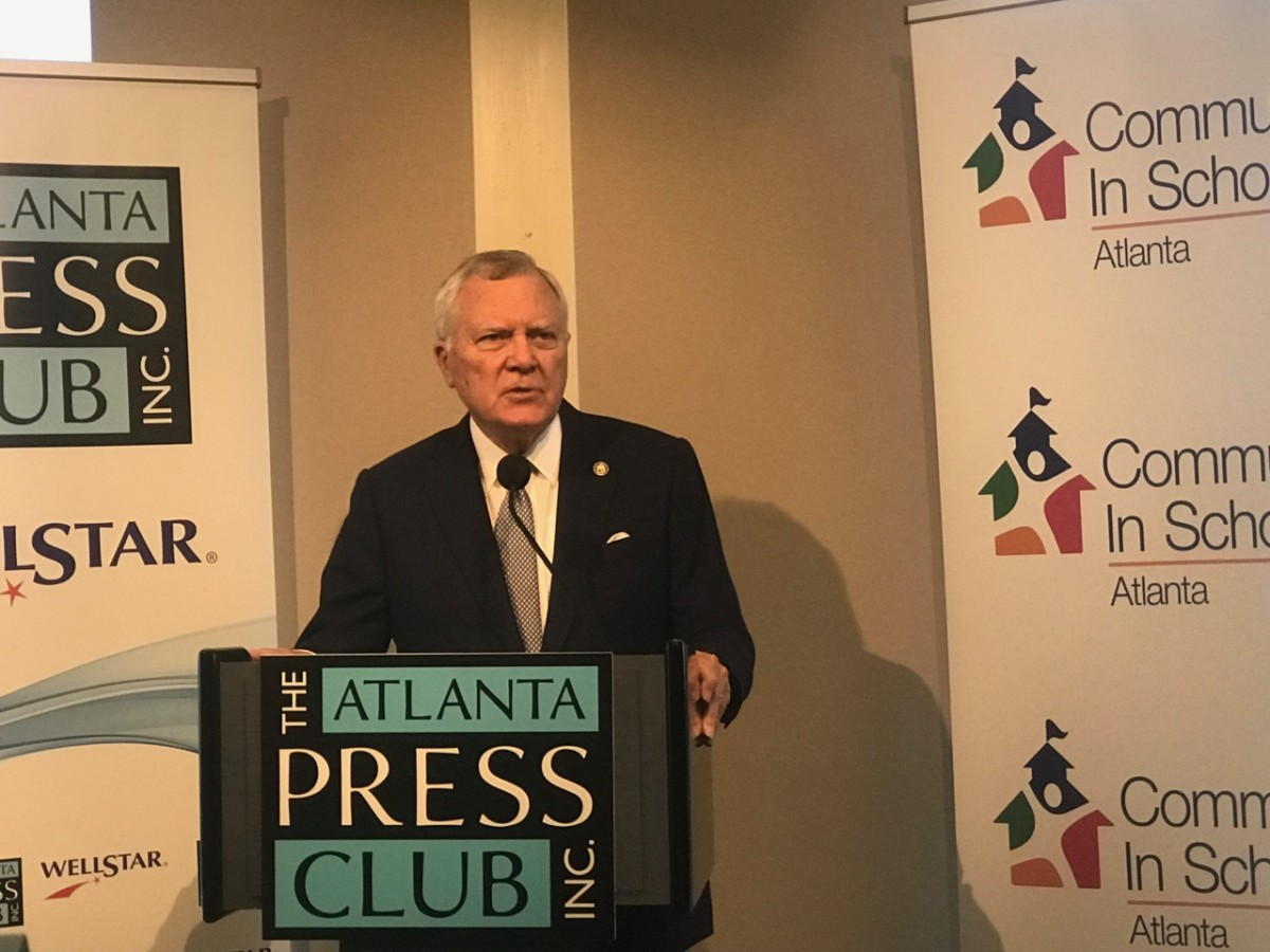 Outgoing Republican Governor Nathan Deal urged his yet-to-be-elected successor to look at school drop-out prevention. Credit: Maria Saporta