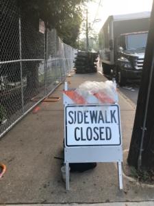 Music Midtown sidewalk closed