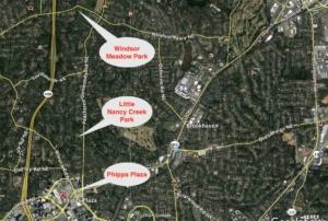 Windsor Meadows Park, locator map