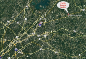 Braselton, locator map