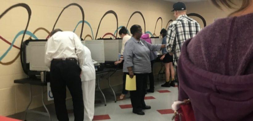 Voting on Nov. 6, 2018 at Bessie Branham Recreation Center in DeKalb County. Credit: Britton Edwards