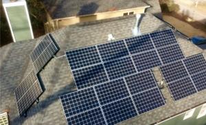 solar roof panels, column