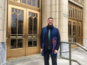 Matthew Cardinale, activist and news editor and founder of Atlanta Progressive News, is now running for Atlanta City Council. Credit: Maggie Lee
