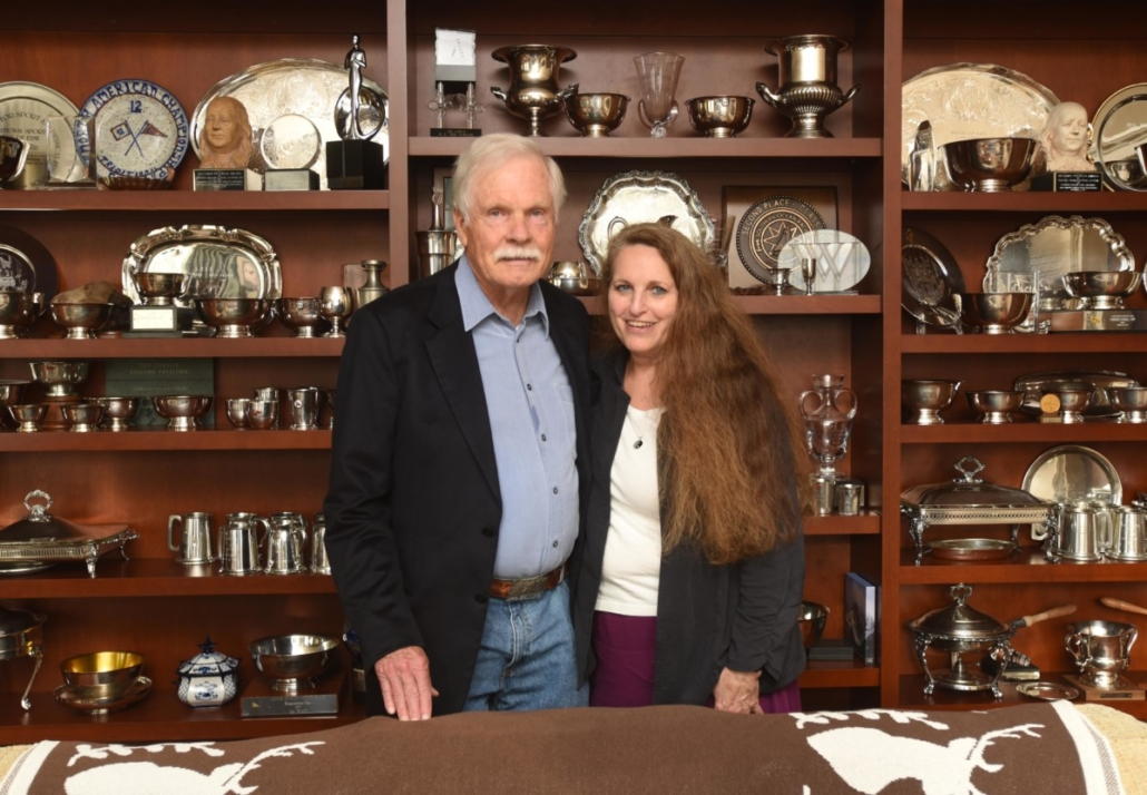 Ted Turner and Maria Saporta
