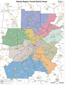 The ATL covers 13 counties and is split into 10 districts. Courtesy: The ATL