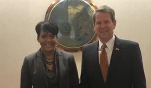 Atlanta Mayor Keisha Lance Bottoms with Gov.-elect Brian Kemp (Special)