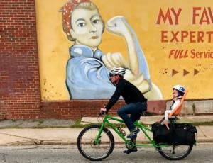 rosie, dekalb avenue, bicyclist