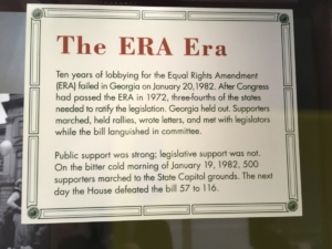 """An ERA explainer at a state Capitol permanent exhibit: the first time around """"public support was strong; legislative support was not."""""""