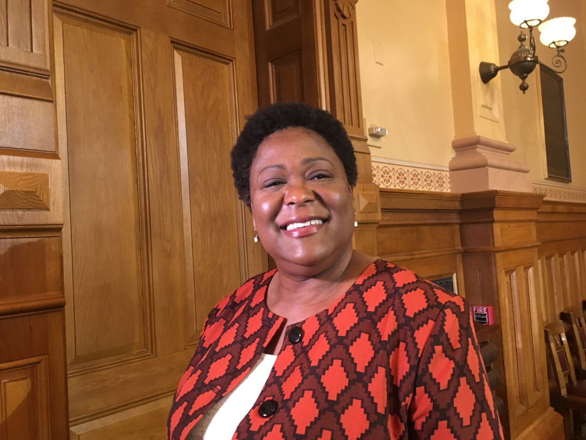 Atlanta City Council President Felicia Moore at the state Capitol in August, 2018. File/Credit: Maggie Lee