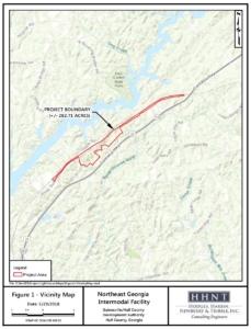 gainesville inland port, locator map