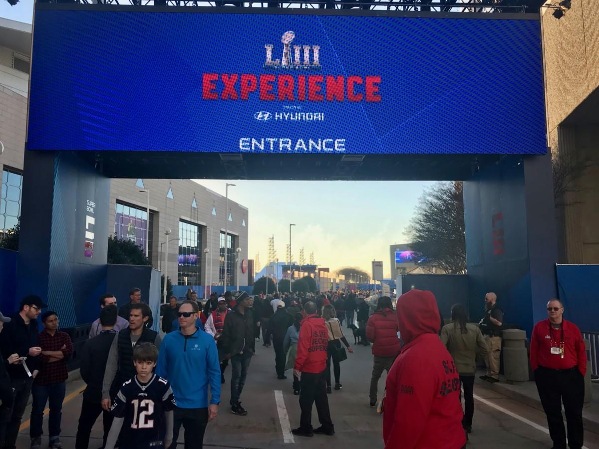 pedestrians Super Bowl