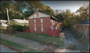 This property on James P. Brawley Drive is one of several that will be renovated by the Westside Future Fund. Credit: Invest Atlanta handout