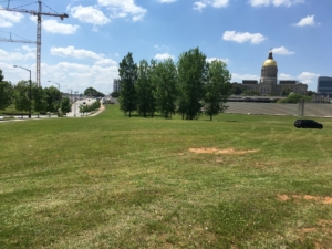 One of the pieces of land to be conveyed is on Memorial Drive near the state Capitol. File/credit: Maggie Lee