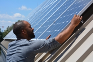 solar roof installation