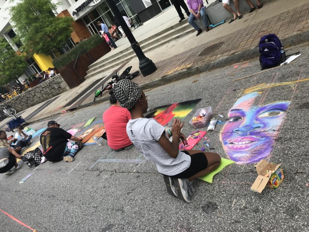 chalk designs Atlanta Streets Alive
