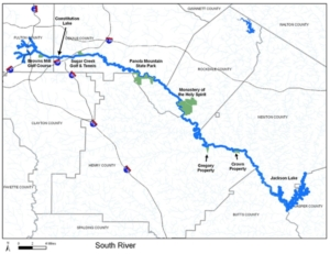 South River, locator map