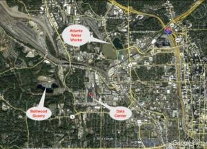 data center, locator map