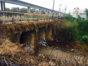 Atlanta BeltLine, SW trail, 2015, tunnel
