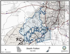 City of South Fulton, map
