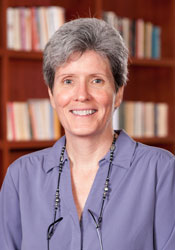Elizabeth Hackett, the chair of the Women's, Gender, & Sexuality Studies Department at Agnes Scott, helped work out the Charis deal. Credit: Courtesy Agnes Scott