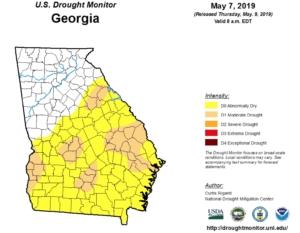 Georgia drought, may 7, 2019