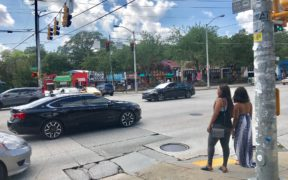 Little Five Points, traffic mix