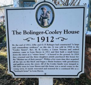 Lynn Haven, Bolinger-Cooley House, sign