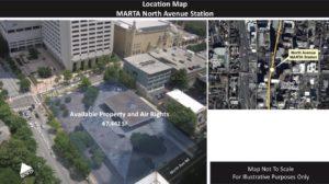 MARTA, North Avenue Station, map