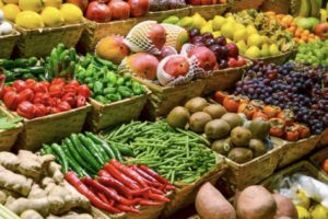 fruits, vegetables