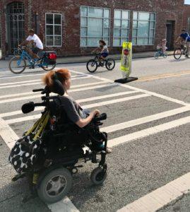 traffic, wheelchair