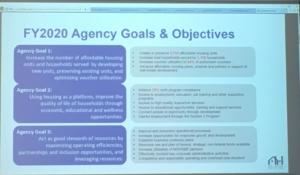 Atlanta Housing goals FY 2020 listed on aslide