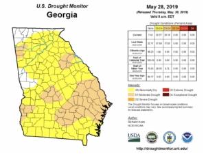 Drought Monitor, may 28, 2019