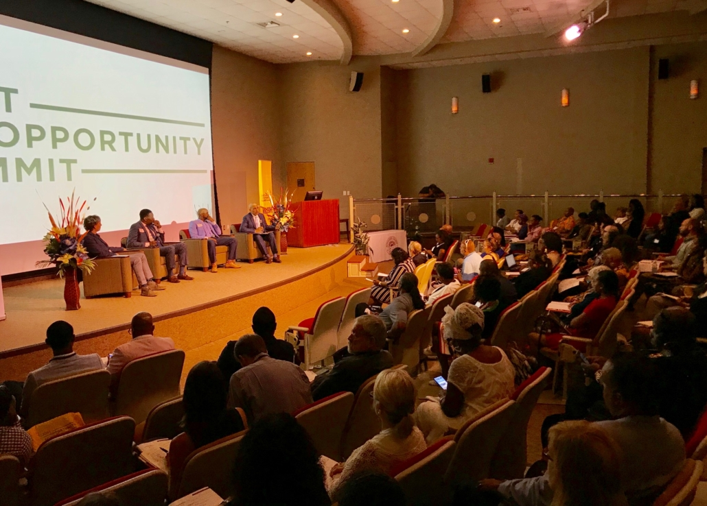 June 21, 2019: Just Opportunity Summit morning panel. Credit: Kelly Jordan